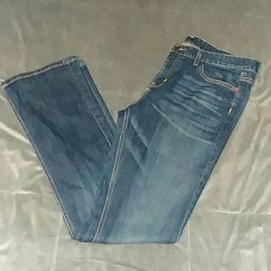 Land's END women's 32 BOOTCUT BLUE jeans